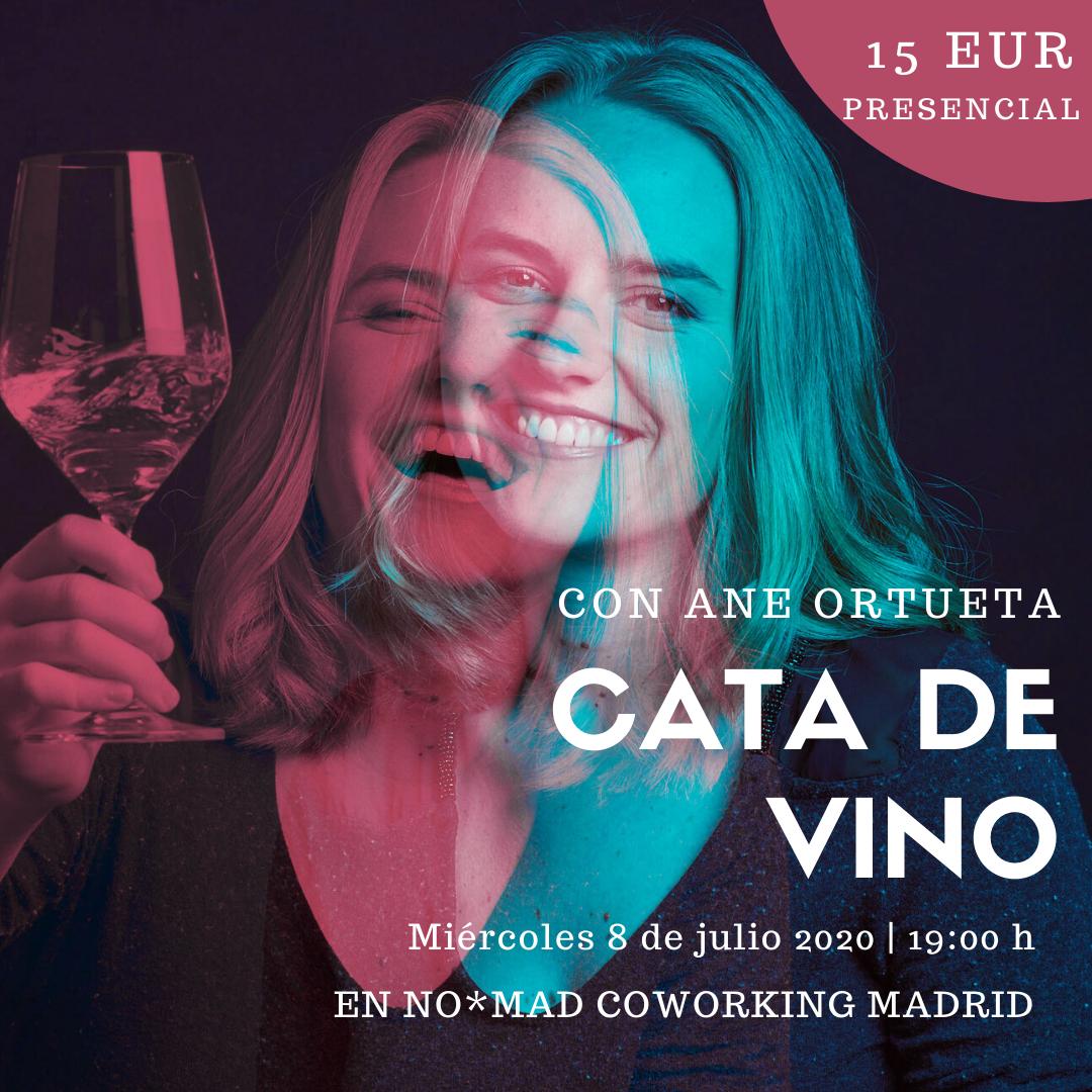 Ane Ortueta, la formadora del evento de Cata de vinos de NO*MAD COWORKING