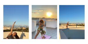 Yoga y una terraza